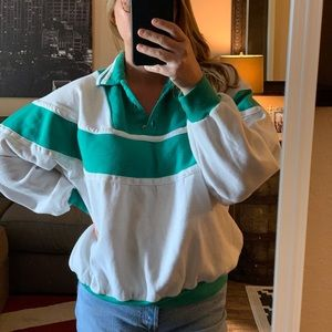 VINTAGE 80s Color Blocking Sweatshirt
